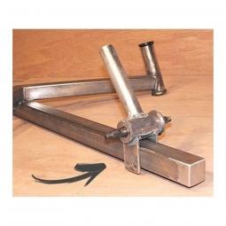 Patte acier à souder pour support boitier de pédalier de vélo coucher