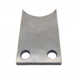 Patte acier a souder pour support boitier de pedalier de velo coucher
