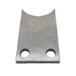 Patte acier à souder pour support boitier de pédalier de vélo coucher .