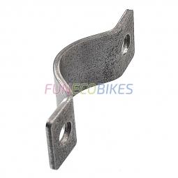 Bride acier pour le serrage dans la construction vélo ou remorque vélo