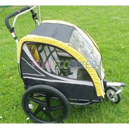 Remorque vélo poussette 2 enfants avec amortisseurs