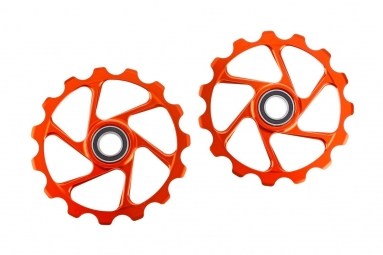 Galet de derailleur aerozine 15 dents orange