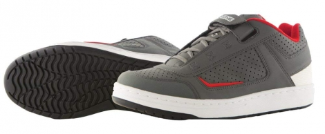 Chaussures mtb compatible spd sixsixone 47 13 gray red