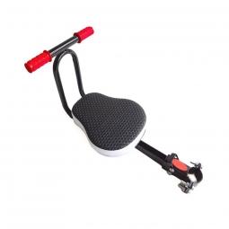 Selle enfant repliable sur cadre de vélo, avec repose pieds