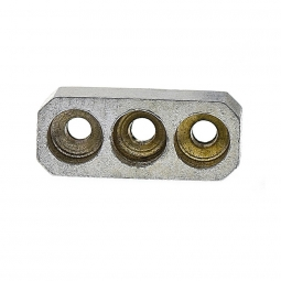 Passe gaine triple plat aluminium a souder sur cadre velo