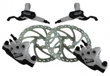 HAYES 2013 Paire De Freins DYNO COMP White Disques 160 mm PM / IS