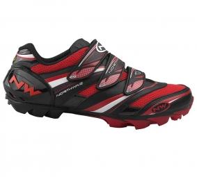 Chaussures VTT Northwave Lizzard Pro 2011 Noir/Blanc/Rouge