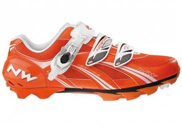 Chaussures VTT Northwave SPARTA SBS 2012 Orange Blanche
