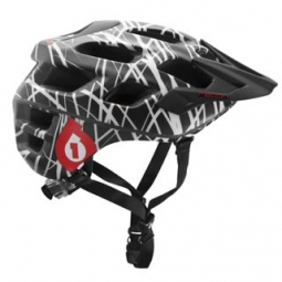 Casco 661 SIXSIXONE RECON WIRED Negro Rojo