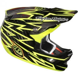 TROY LEE DESIGNS D3 CARBON Helmet ZAP YELLOW Size L