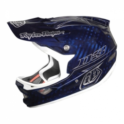 TROY LEE DESIGNS D3 CARBON PINSTRIPE BLUE Helmet Size L