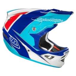 Casque intégral Troy Lee Designs D3 COMPOSITE STINGER Blanc Bleu