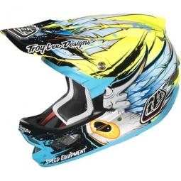 TROY LEE DESIGNS D3 Helmet YELLOW COMPOSITE SPEEDWING