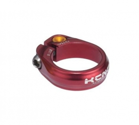 kcnc collier de selle ecrou road pro sc9 rouge 34 9