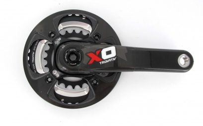 sram pedalier x0 2 2 rouge bash carbone 24 38 175 mm 10v ss boitier gxp