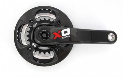 sram pedalier x0 2 2 rouge bash carbone 24 38 175 mm 10v sans boitier bb30