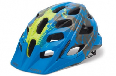 Casco Giro HEX Azul Amarillo flúor