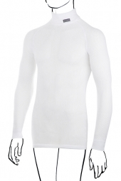 BRYNJE Maillot Manches Longues Col Montant Thermo BLANC