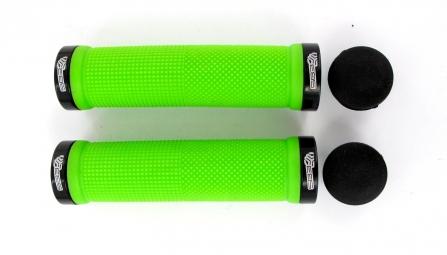 SB3 Paire de Grips KHEOPS Lock On Vert Noir