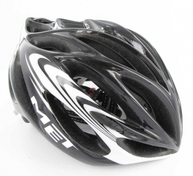 Casco Met INFERNO Negro Blanco
