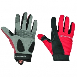 ENDURA Paire de Gants FULL MONTY Rouge