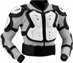 fox veste de protection titan sport white taille m