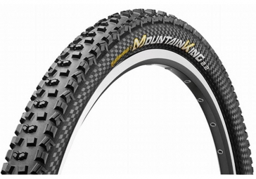 Continental pneu mountain king ii 26x2 20 souple protection blackchili tubeless ready