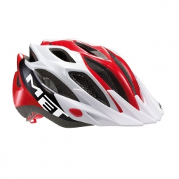 MET 2013 CROSSOVER Helmet White Red One Size