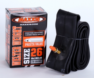 Maxxis chambre a air welter weight 26x1 00 1 25 valve presta 48mm
