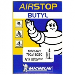 Michelin chambre a air route a1 airstop 700x18 25 valve presta 52mm