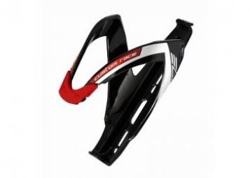 ELITE CUSTOM RACE BLACK Flaschenhalter Gloss Red Logo