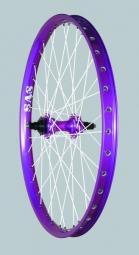 HALO SAS Roue Arrière Violette Disque 6TR 26'' 10 mm 48 rayons