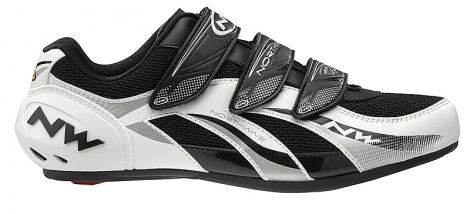 Chaussures Route Northwave FIGHTER 2012 Blanc / Gris