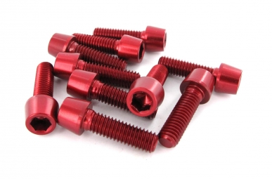 MSC Kit 10 Vis Alu M6 x 20 mm 7075T6 Rouge
