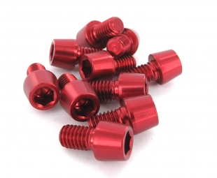 MSC Kit 10 Vis Alu M6 x 10 mm 7075T6 Rouge