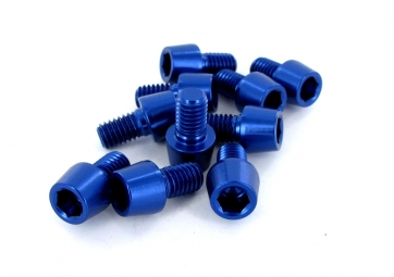 Msc kit 10 vis alu m6 x 10 mm 7075t6 bleu