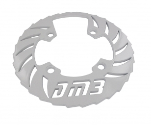 DM3 Bash Guard Alu 42 Dents - 3 Plateaux Blanc