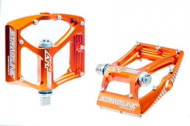 STRAITLINE Pédales AMP orange axe cromo