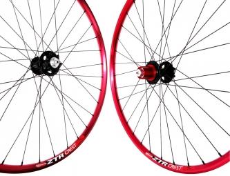 NOTUBES Wheelset ZTR CREST RED 26'' Axis 9mm ZTR / SAPIM
