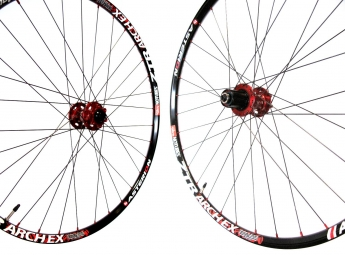 ASTERION AM Wheelset Rim ZTR ARCH Ex Hub AIVEE Rays Dlight 6 holes 15mm 26'' Red