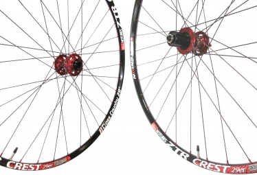 ASTERION Wheelset XC 29'' Rim ZTR CREST Hub AIVEE Spokes Dlight 6H 15mm 12x142mm Red
