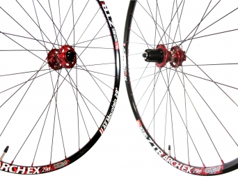 ASTERION AM Wheelset Rim ZTR ARCH Ex Hub AIVEE Rays Dlight 6 holes 15mm 29'' Red
