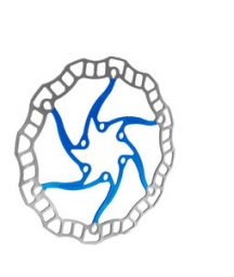 disque de frein ashima aro 08 bleu 180 mm