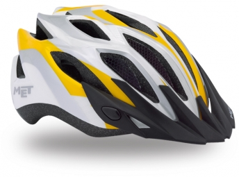 MET CROSSOVER Helmet XL Silver / White / Yellow Size XL