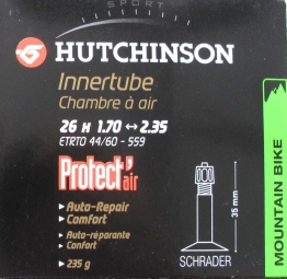 Hutchinson butyl tube Protect'Air 26 * 1.70 2.35 Big Schrader Valve (each)