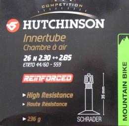 Hutchinson Reinforced butyl tube 26 * 2.30 to 2.85 Schrader Big Valve (each)