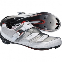 Chaussures Route Shimano R191 Blanc Argent