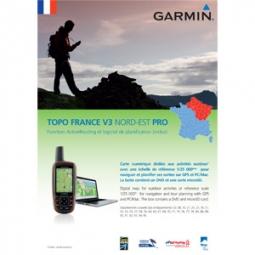 GARMIN TOPO France NORD-EST V3 DVD + Carte Micro SD pré chargée