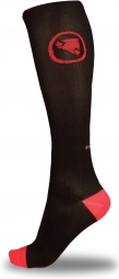 ENDURA Lot 2 paires de Chaussettes Compression Noir