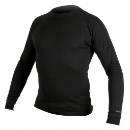 ENDURA MERINO Long Sleeve Jersey Black Size XXL